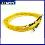 Cuerda de corrección óptica de fibra de ST/PC St-St a dos caras de 50/125 milímetro de fibra óptica