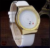 Venta al por mayor del reloj de la correa de cuero de la placa de oro del cuarzo del reloj de la marca de fábrica de las señoras Paidu de la manera Yxl-358