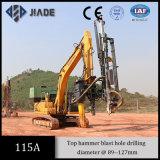 Conexión Drilling hidráulica montada excavador de roca