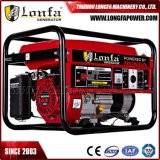 gasolina da fase 6kVA/6kw/6000W monofásica/gerador de refrigeração ar da gasolina