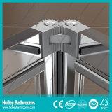 Écran de douche en pivotement en aluminium avec verre stratifié trempé (SE923C)
