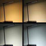 사무실 지적인 무선 전화 지능적인 전화 접촉 통제 LED 빛을%s 비용을 부과 테이블 램프 Qi 무선 충전기