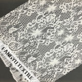 Tela de nylon do laço do algodão da forma da estrela para o vestido da menina