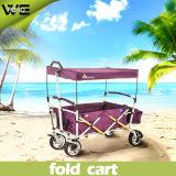 Carro de dobramento da praia do jardim da cesta Multifunction ao ar livre do armazenamento