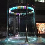 Fontaine ronde de rideau en eau de fontaine d'eau d'acier inoxydable