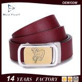 Cinghie di cuoio personalizzate stile della mucca del grado della parte superiore di marchio di modo per gli uomini