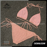 Met de hand gemaakte de Vrouwen van Halter van Adustable haken de Lingerie van de Bikini