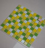 Grüne und gelbe Mischungs-Glasmosaik-Fliese für Küche-Mosaik-Fliese