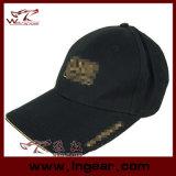 Sombrero militar superior plano en blanco del casquillo de la alta calidad
