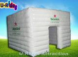 De grijze Opblaasbare Tent van de Kubus voor Trad toont