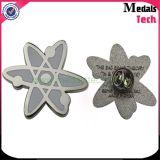 試供品のカスタム蝶クリップが付いている銀によってめっきされる文字の形の金属の折りえりピン