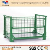 産業倉庫のFoldable鋼鉄網によってスタックされる低い台の容器