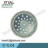 화강암 갈거나 또는 거친 닦는 공구를 위한 Jdk 다이아몬드 두 배 줄 컵 바퀴