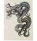 Etiquetas engomadas temporales impermeables del tatuaje de la carrocería negra de moda del dragón