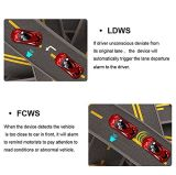 SuperautoDVR Rearview-Spiegel-Kamera-Doppelobjektiv Ldws Adas WDR Parken Dashcam 1080P der Nachtsicht-7.0inch Auto-Nocken