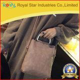 Sac à main de femmes de sac de bourse de client de cartable d'emballage le grand a accentué le traitement de dessus en métal