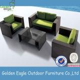 Mobilia esterna del patio del blocco per grafici di alta qualità del rattan di alluminio del PE