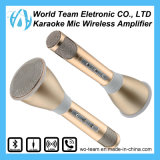 Микрофон радиотелеграфа Bluetooth Karaoke золота шикарный миниый портативный