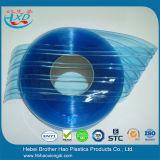 Broodjes van de Strook van het Gordijn van de Deur van pvc van de Installatie DIY de Antistatische Blauwe Geribbelde Plastic