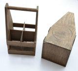 عالة علامة تجاريّة أثر قديم خشبيّة جعة حمل لأنّ 4 زجاجات