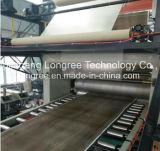 La machine neuve Spc d'étage de PVC a émulsionné chaîne de production d'étage de Spc d'extrudeuse d'étage avec l'enduit UV de couche de Lvt