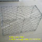 Heiß-Eingetauchter galvanisierter Gabion Kasten China-60X80mm/Gabion Ineinander greifen-Stein-Kasten (XM-2)
