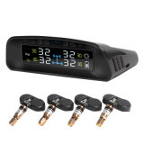 Potência solar e de carga do USB sensor sem fio do monitor da pressão de pneu do Portable TPMS da potência com os 4 sensores internos