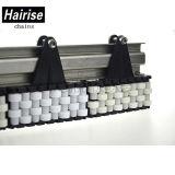 Tira plástica do polietileno de Hairise que desliza os trilhos de guia lateral ajustáveis do transporte