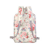Sac imperméable en toile PVC Canvas Patterns Sac Lady Backpack (99151)