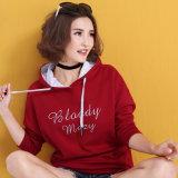 Hoodies des femmes rouges faites sur commande de pull de mode de qualité