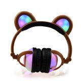 かわいくおかしい習慣LEDの軽い子供のヘッドホーンを着色しなさい