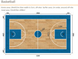 El PVC se divierte el suelo para la madera de interior Pattern-4.5mm Hj6813 grueso del baloncesto