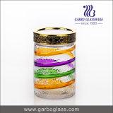 tarro de cristal hermético decorativo del color del aerosol 950ml