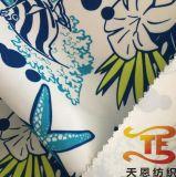 2018新しい中国の織物のサテンのモモファブリックは衣服のためのMicrofiberによって印刷されたファブリックをリサイクルした