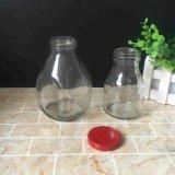 bottiglia vuota di vetro della bevanda del latte della spremuta di 250ml 450ml con il coperchio dello stagno del metallo