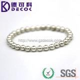 L'argento personalizzato dell'oro della Rosa placcato ha perforato la sfera inossidabile dei monili 316 316L
