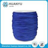 Corde tissée par polyester élastique fait sur commande de type de couleur