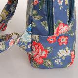 목가적인 꽃 패턴은 방수 처리한다 PVC 화포 책가방 (23261)를