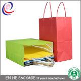 Sac à provisions de papier estampé par couleur