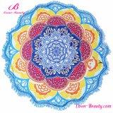 卸売100%年のポリエステル花の印刷されたインドのタペストリーの曼荼羅のビーチタオル