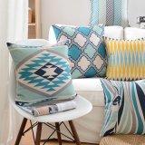Подушки хлопка напечатанные полотном дешевые декоративные для украшать кровати