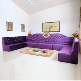 Sofa élégant de meubles de restaurant de tissu de l'atmosphère pour la salle de séjour (SP-KS370)