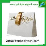 Рециркулированный роскошью мешок Kraft верхнего качества бумажный с печатание логоса