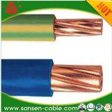 Câble à un noyau de construction du fil H07V-U H07V-R de construction de la BV isolé par PVC de fil électrique de conducteur de cuivre