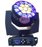 Olho grande 4 da abelha do PCS da cabeça movente 19 do diodo emissor de luz em 1 iluminação do estágio do feixe