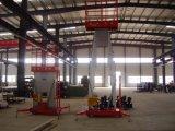 Plate-forme en aluminium de travail aérien de doubles mâts avec du CE