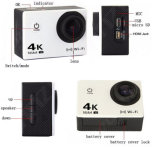 """Vorgangs-Kamera 4k 1080P volles HD DVR 12MP 2 """" LCD imprägniern der 30m Vorgangs-Nocken-Sportkamera"""