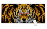 Tigre fresco grande esteira prolongada modelada do rato da mesa do teclado da esteira da almofada de rato do jogo