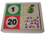 Il puzzle di legno numera il puzzle della spina