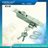 41055 blocages de porte coulissante de côté de Doule/blocage de crochet, avec du laiton ou le cylindre de zinc, 3keys
